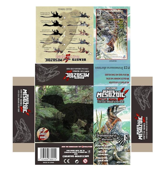 'Dromaeosaurus Fan's Choice package layout'