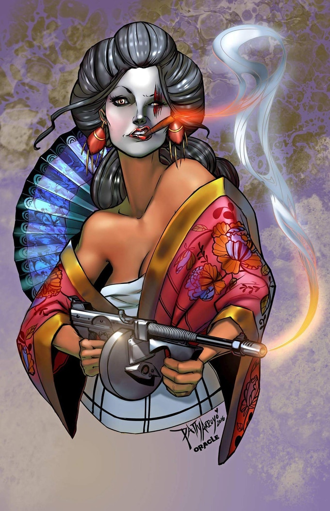 "11""x17"" Geisha Fury print by Patty Arroyo"