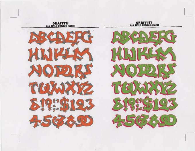 """For $100: """"Graffiti Alphabets,"""" ca. 2006, giclée (digital) print, 8 1/2 x 11 in., signed, plus a copy of """"At War with War."""""""