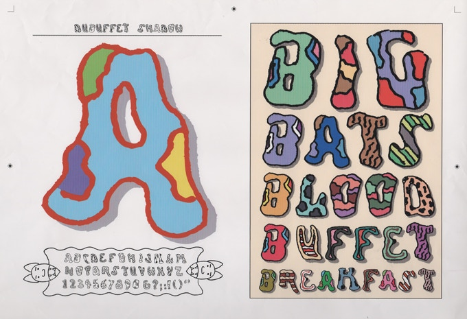 """For $150: """"Dubuffet Shadow Alphabet,"""" ca. 2006, giclée (digital) print, 15 x 19 in.,  signed, plus a copy of """"At War with War."""""""