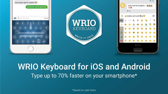 A keyboard for fast, precise and intelligent writing on iOS and Android