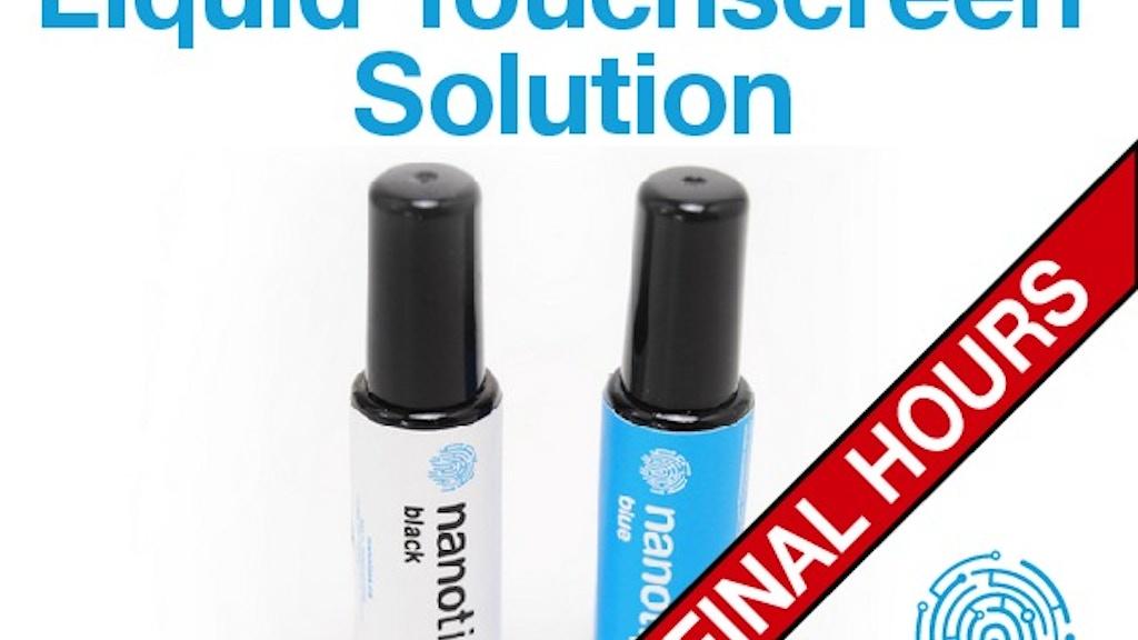NANOTIPS - Make all gloves touchscreen compatible. project video thumbnail