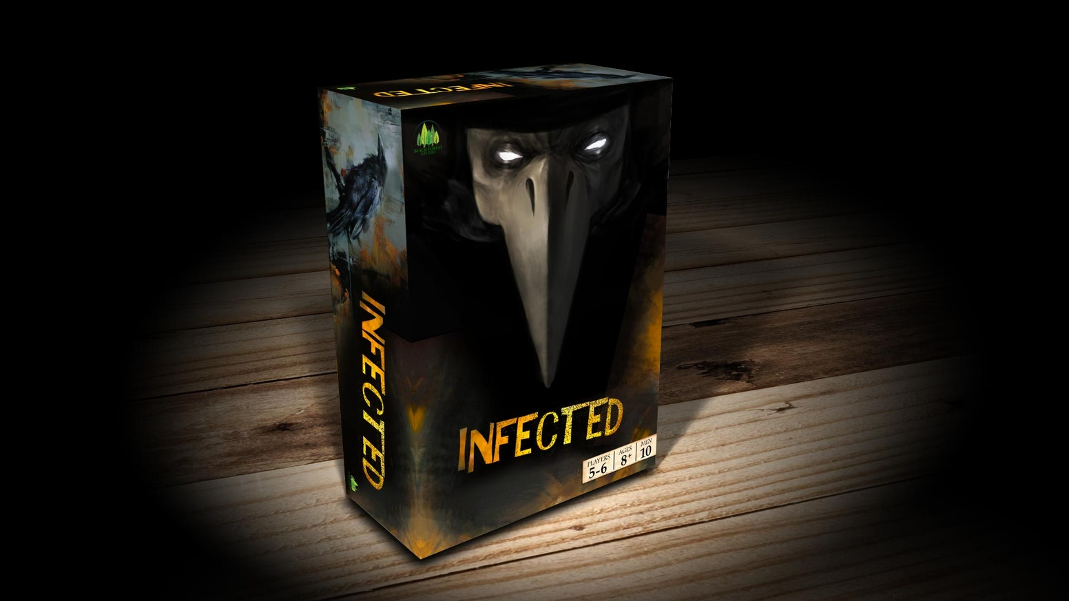 A strategic, secret role, semi-cooperative, social tabletop card game with dice and a miniature. Will you be next to become Infected?