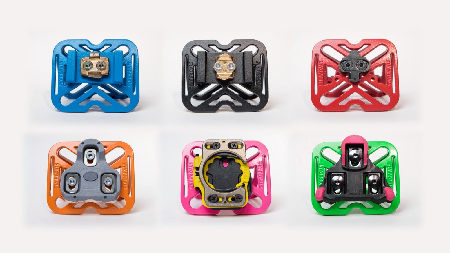 Instantly convert clipless pedals to platform pedals for casual bike riding. Now in six awesome new colors!