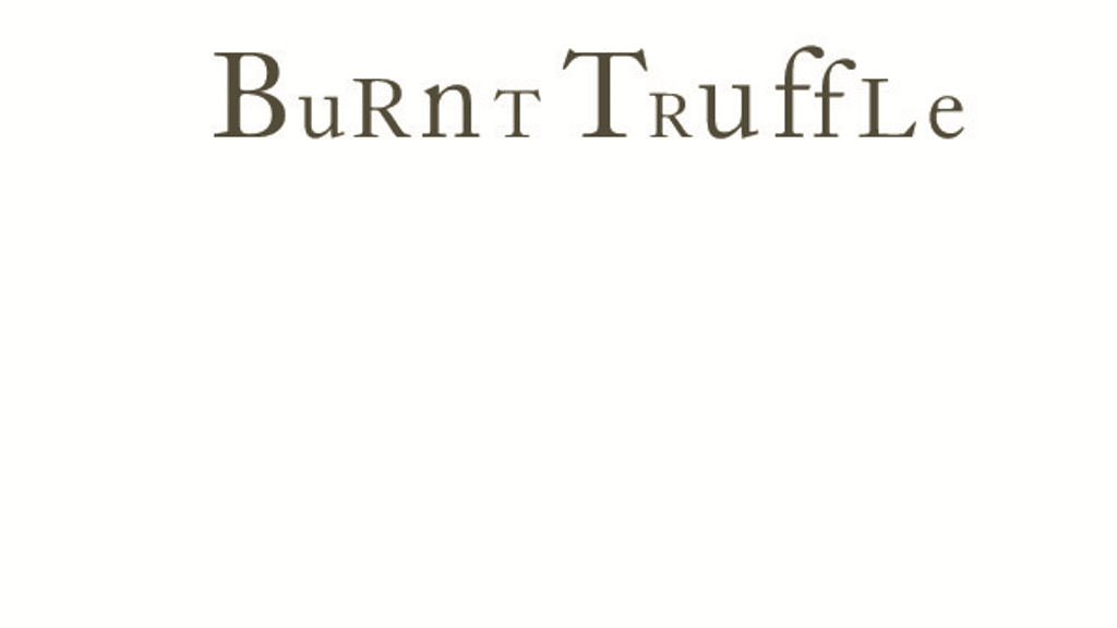 Burnt Truffle from the team behind Sticky Walnut project video thumbnail
