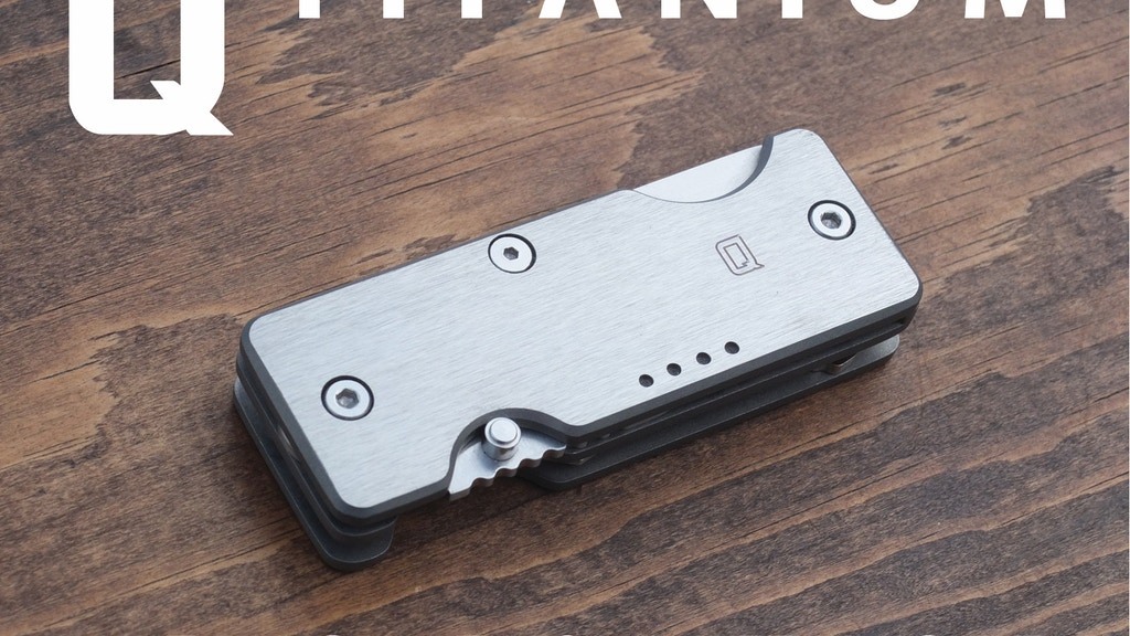 Titanium Mini Q - A Key Organizer & Knife for Everyday Carry project video thumbnail