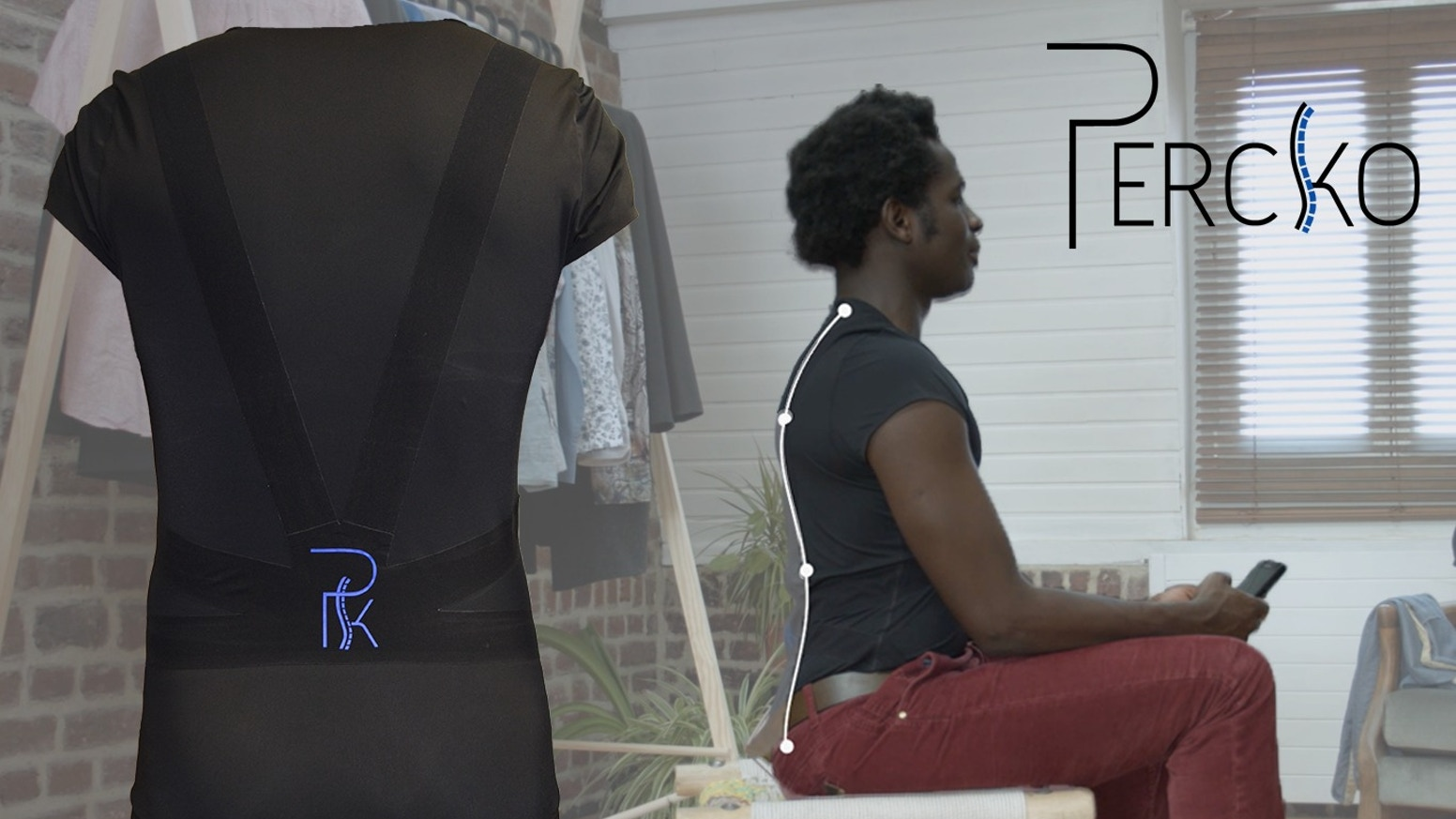 Percko is an undershirt that teaches you how to have the right posture