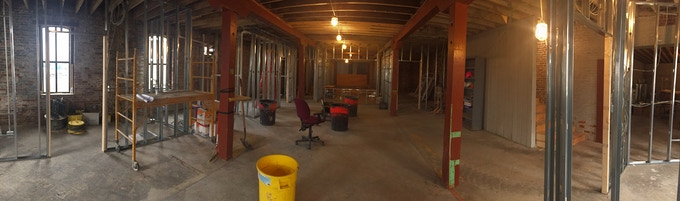 The first floor - prep and baking area, cold/dry storage, offices and tasting room.