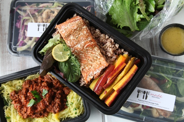 A salmon entree from WHOLEmade Meal Shares