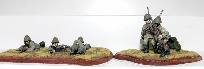 Soviet HMG Firing and Advancing Teams