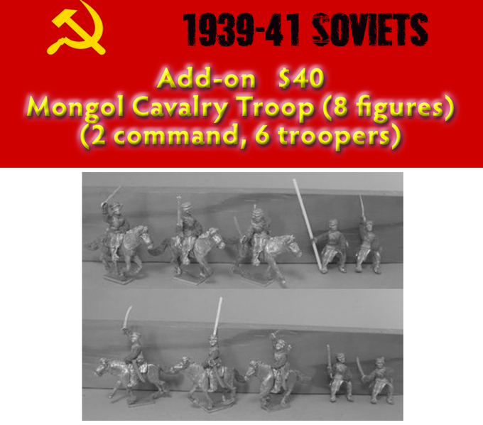 Add on  - Mongol Cavalry Troop (8 figs)