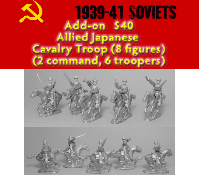 Add on - Allied Japanese Cavalry Troop (8 figs)