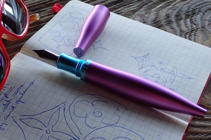 """Stylos """"Tropical Pink with blue nib holder"""""""