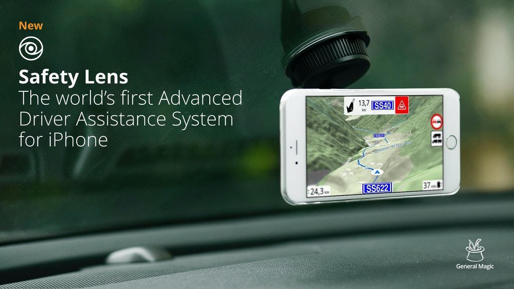 safety lens advanced driver assistance system for iphone by general magic gmbh kickstarter. Black Bedroom Furniture Sets. Home Design Ideas