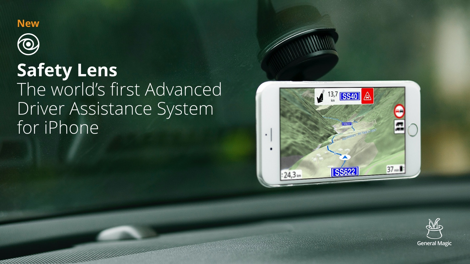 The world's first Advanced Driver Assistance System for iPhone.