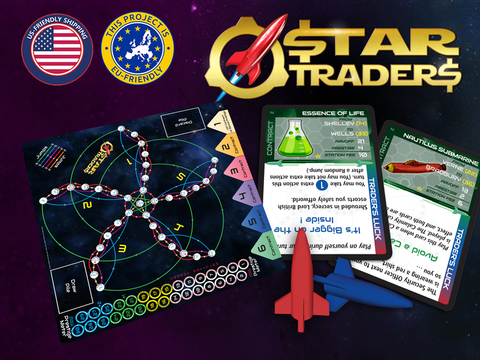 The original space trading boardgame. You're an intrepid starship captain jumping across the galaxy in search of wealth & prestige.