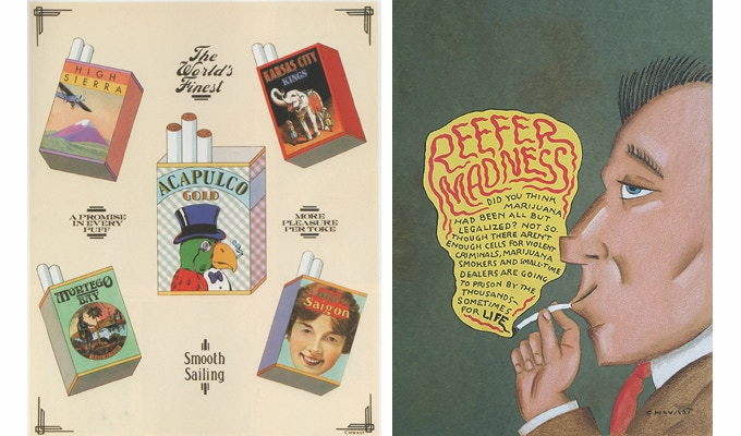 """For $105: """"The World's Finest Marijuana Packaging."""" For $99: """"Reefer Madness."""" Plus a copy of """"At War with War."""""""
