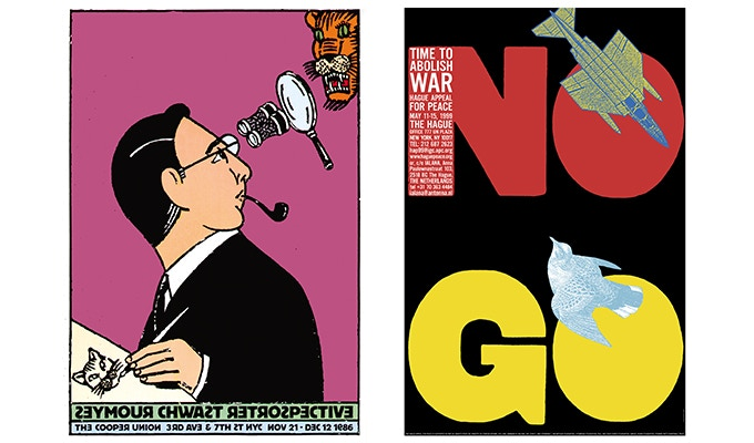 """For $199: """"Cooper Union Retrospective Exhibition."""" For $159: """"NO GO."""" Plus a copy of """"At War with War."""""""