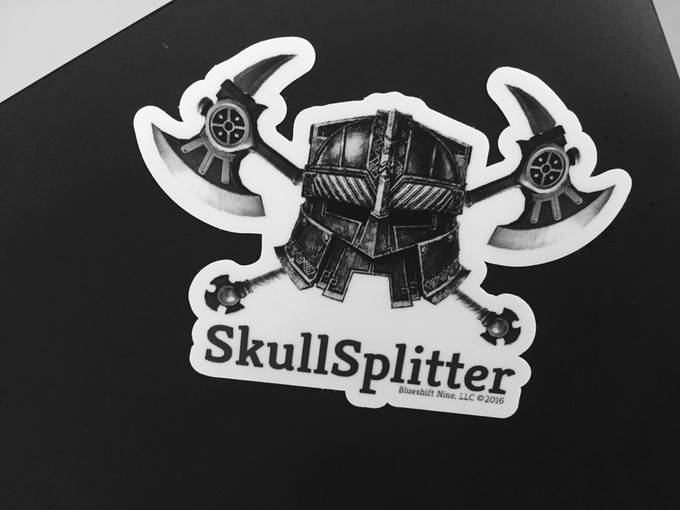 Don't Forget Your Badass Skullsplitter Sticker!