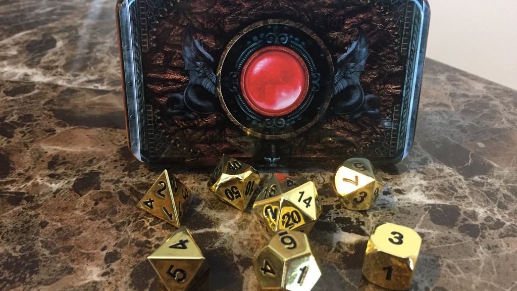 Warlocks Spellbook: Beautifully Crafted-RPG Metal Dice Box project video thumbnail