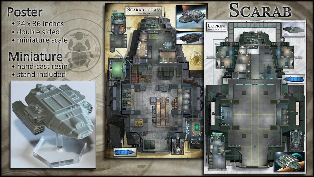 Scarab: Starship Map Poster & Miniature project video thumbnail
