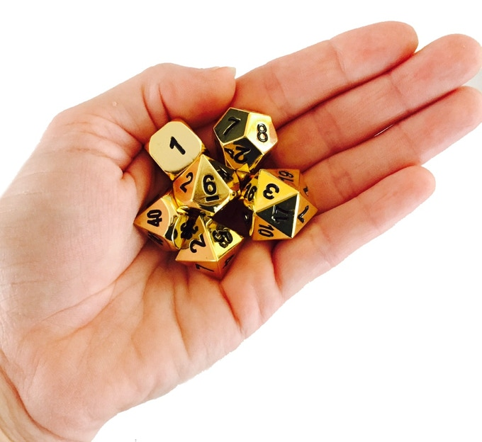 Beware Our Solid Metal Dice Carry Some Weight!