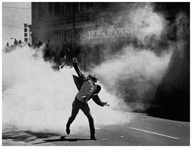 People's Park riot, 1969. Photo by bil paul.
