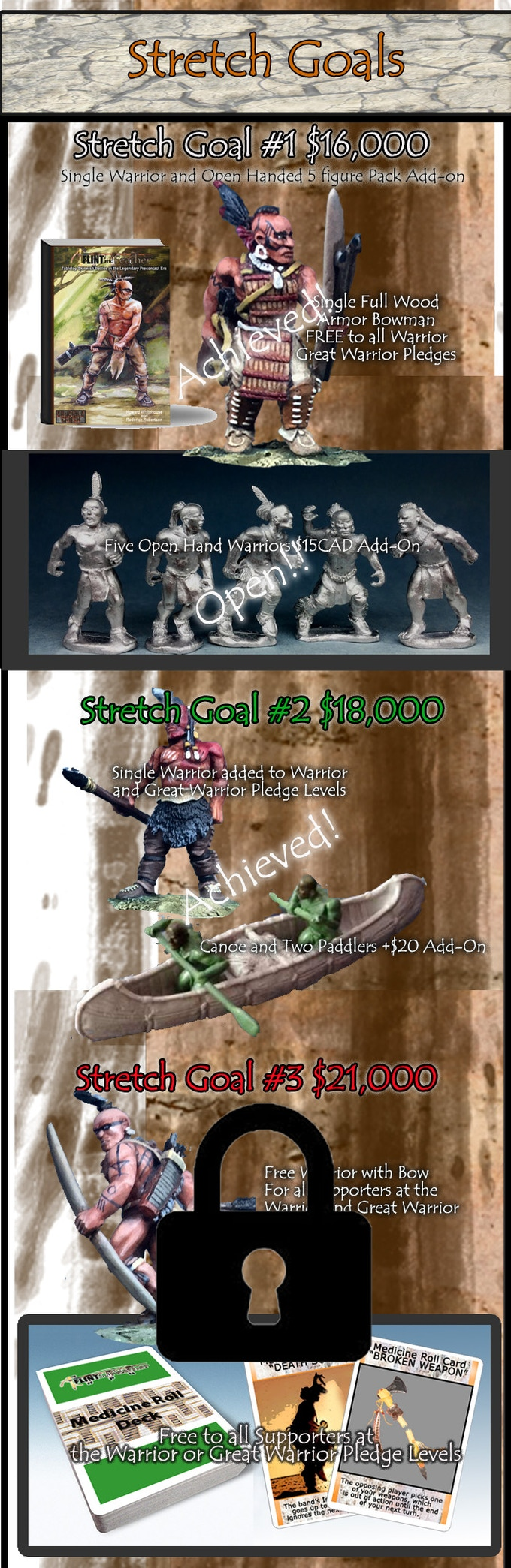 All miniatures are shipped in 28mm scale unpainted metal.