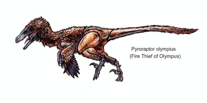 'Pyroraptor action figure concept art'