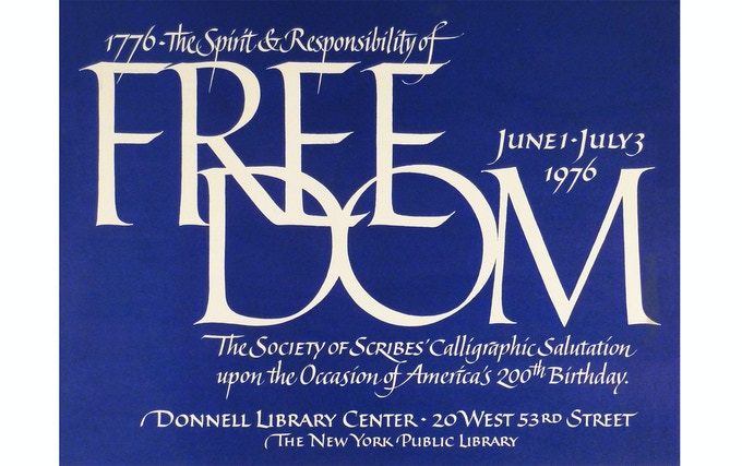 Flyer for a Society of Scribes (NY) exhibition, 1976