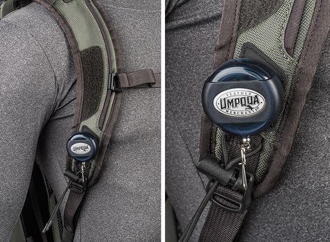 Hypalon zinger attachment points on shoulder straps