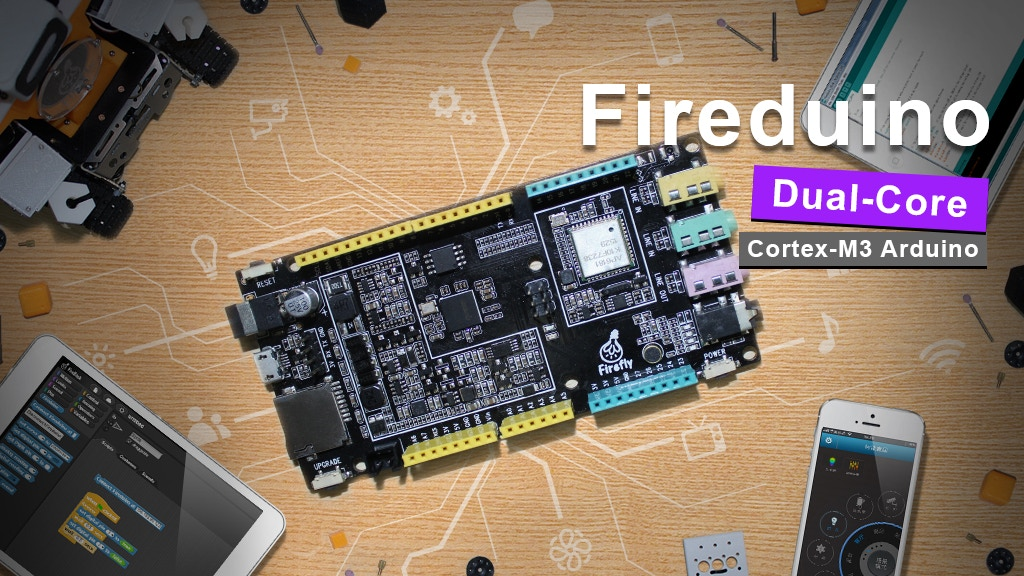Fireduino:Dual-core Arduino board, more powerful and easier! project video thumbnail