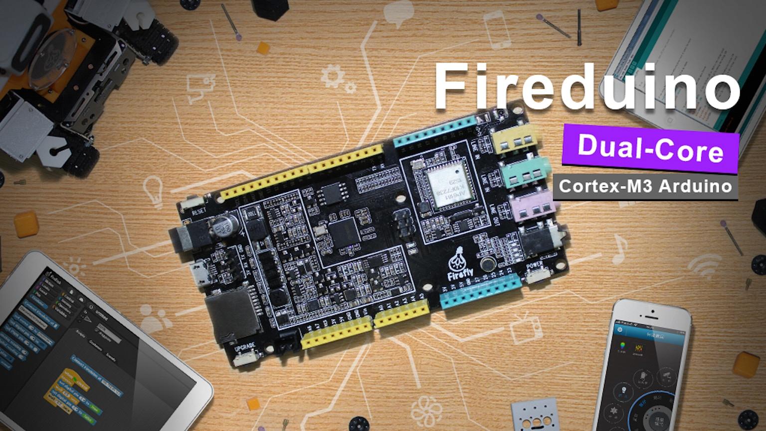 Fireduino:dual core arduino board more powerful and