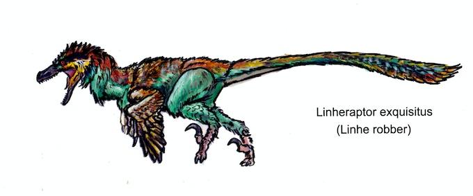 'Linheraptor action figure concept art'