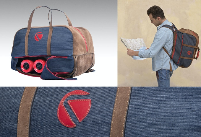 The Voyage bag also has backpack straps