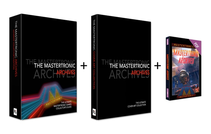 "The Mastertronic Archives 512 page ""199 RANGE"" Limited Collector's Edition, 128 page Covert Art Gallery book, both with signed and numbered bookplates, exclusive USB Cassette and postcards (cover art not final)"