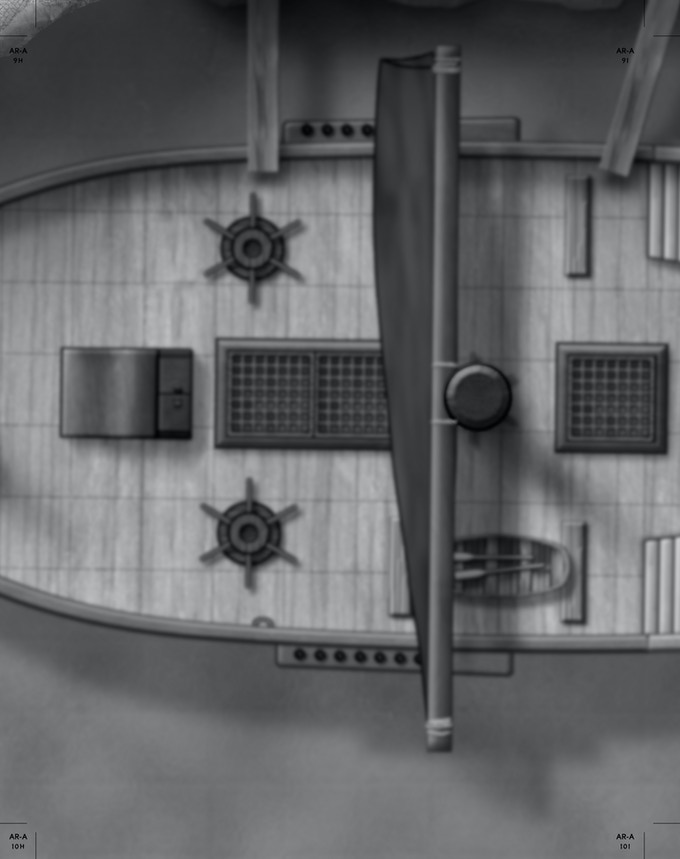 Part of the complete docked ship from the Megadungeon 4