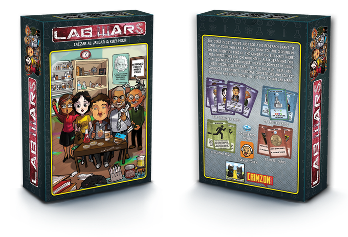 Lab Wars 2-part game box