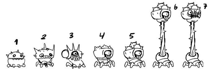 evolution of the enemy concept sketch by sketch