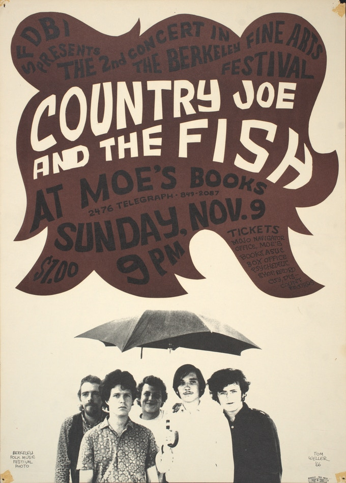 Country Joe and the Fish at Moe's Books, 1966.