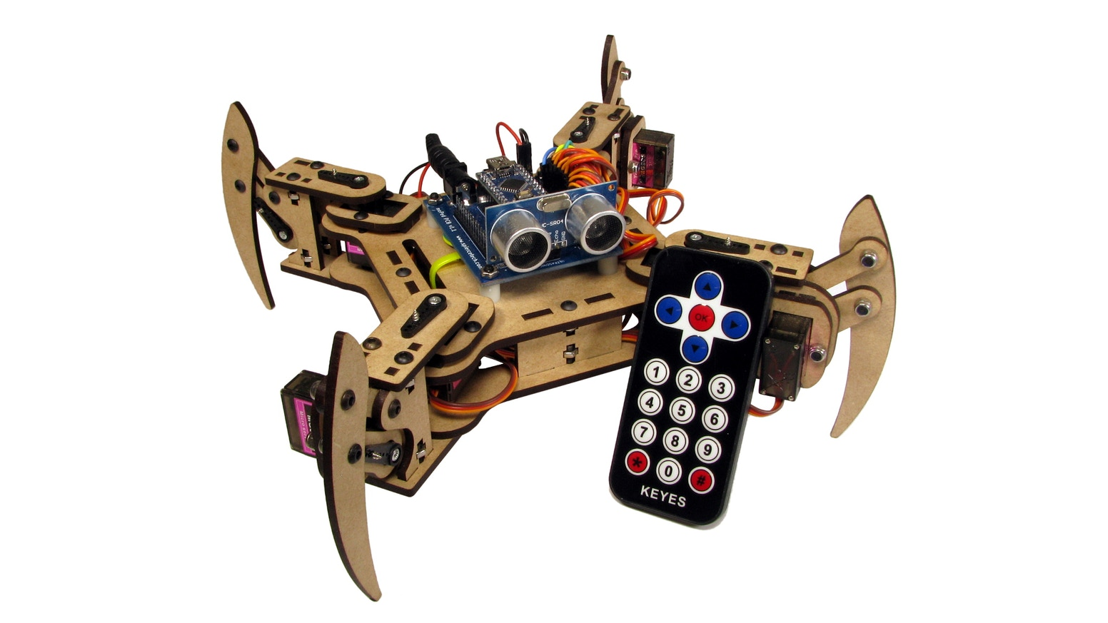 Build your own four legged friend with this easy robot kit!  What will you teach your mePed to do?