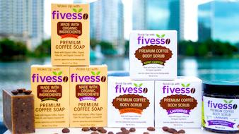 FIVESSO: Premium Organic Coffee Soaps & Scrubs