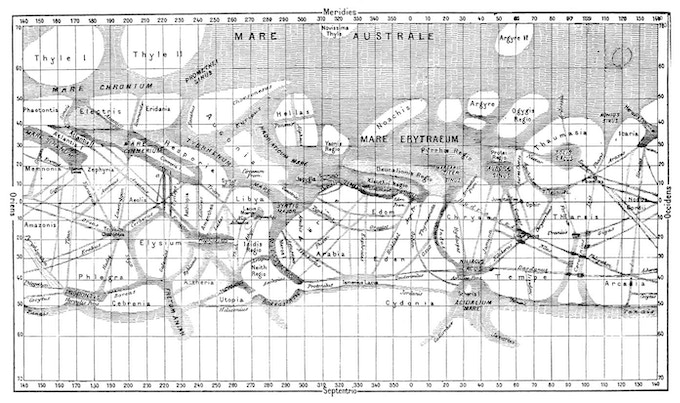 Mars as seen by the Victorians, as it exists in HQC