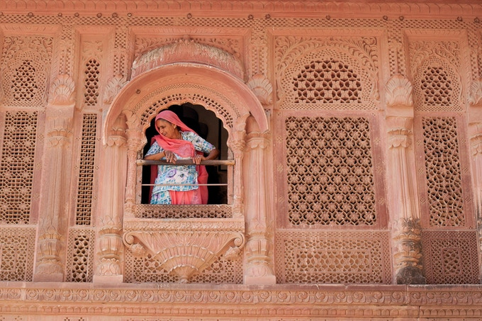 Staff Member At Mehrangarh Fort, India (Cate Gunn)