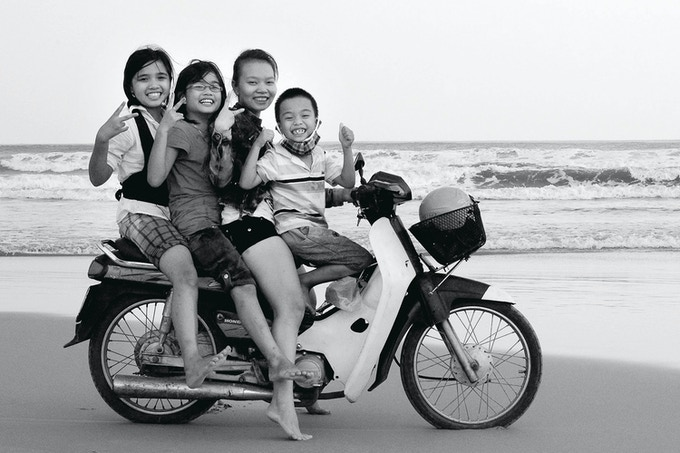 Children At The Beach, Central Vietnam (Cate Gunn)