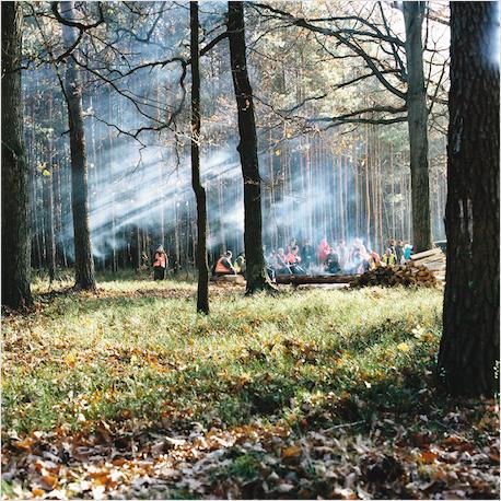 Rückkehr von der Jagd - der Lagerfeuer
