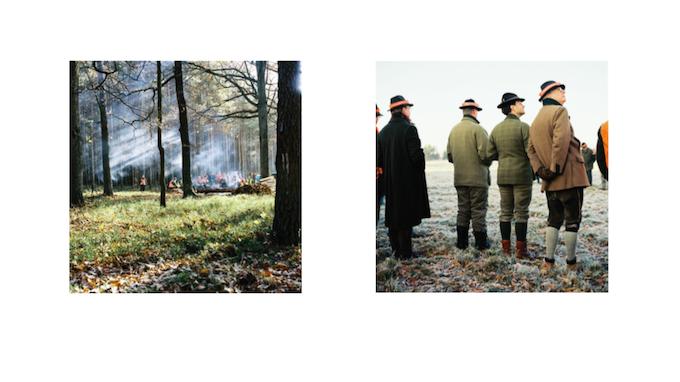 Rückkehr von der Jagd (links: der Feuerlager- right: zuerst...)