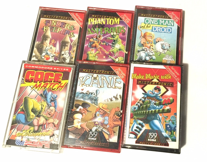 A sample of games featuring cover art by John the Brush