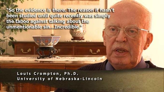 "Louis Crompton, Ph.D., interviewed for ""Before Homosexuals"""