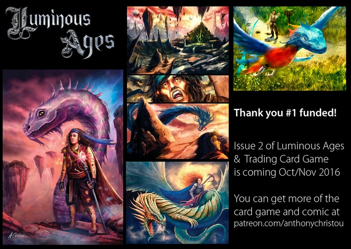 Do you love Dragons, Creatures, Magic, Dreams and Fantasy? Luminous Ages is the fantasy comic book and art book for you!